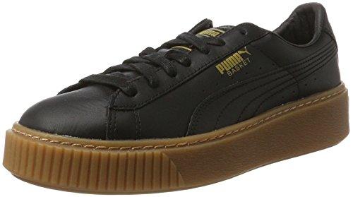 Puma Basket Platform Core, Sneakers Basses Femme Noir (Puma Black-puma Black)