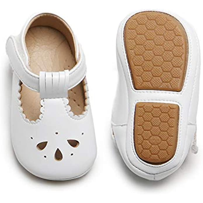 Soft Sole Leather Baby Shoes - Infant Baby Walking Shoes Moccasinss Rubber Sole Crib Shoes