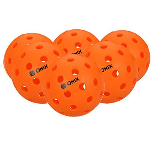 Pickleball Marketplace Onix popular FUSE INDOOR Pickleball Balls are ready to play immediately out of the box - The balls offer superior balance and a consistent feel. 6 Pack – ORANGE