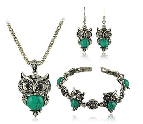 Dazzle Turquoise Necklace Bracelet Earrings JGB033