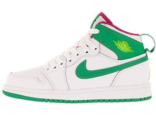 Jordan Little Kid Retro 1 White/Gamma Green-Vivid Pink-Cyber White/Gamma Green-Vivid Pink-Cyber