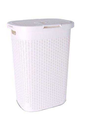 1.7 Bushel Laundry Hamper Palm Luxe (White)
