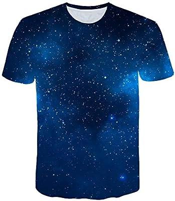 RCFRGV 3D Camiseta Hombre/Mujer 3D Camisetas Camiseta 3D Imprimir Árboles Estrellas Noche Secado rápido Verano Tops Camisetas: Amazon.es: Deportes y aire libre