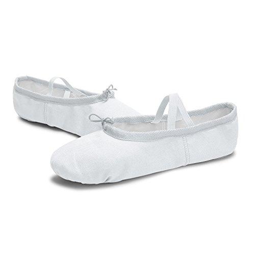 L-run Ballet Canvas Dansschoenen Voor Meisjes / Vrouwen / Ballet Verzender / Yoga Schoen Wit