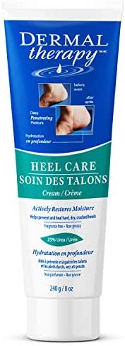Dermal Therapy 8 oz Foot Cream for Dry Cracked Feet - Urea Cream, Foot Lotion, Heel Cream, and Humectant Moisturizer with Alpha Hydroxy Acids