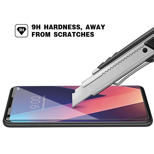 LG V30 Screen Protector, ZAOX [9H Hardness] [Crystal Clear] [Scratch