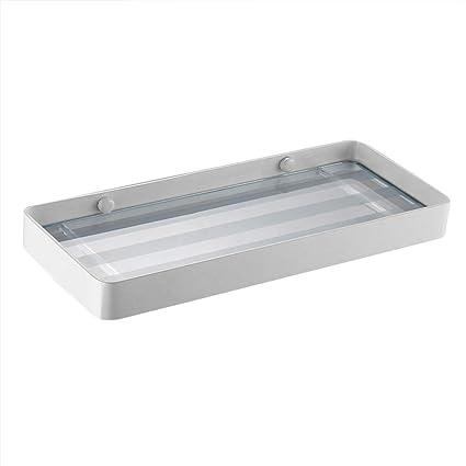 Shower Shelf Home Bathroom Storage Rack Modern Tempered