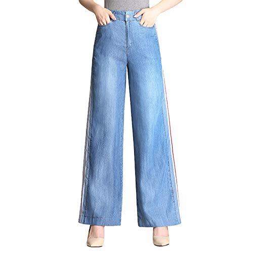 ADEMI Jeans Femme en Jean Dlav Taille Haute en Jean Dlav Blue
