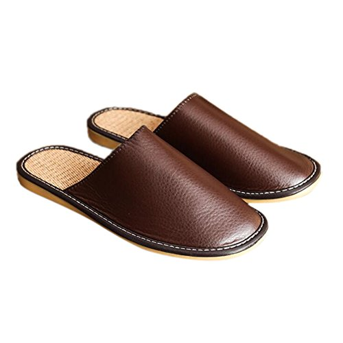Brown Men TELLW pour Chaussons Femme II7Rq