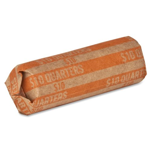 Coin Wrapper Quarters 10 00 Orange