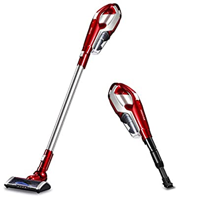 Deenkee Cordless Vacuum Cleaner, 2 in 1 Vacuum Cleaner, Vacuum Cleaner Handheld with Detachable Longer-lasting Battery,HEPA Filtration for Carpet Hard Floor Pet Hair Dust Cleaning