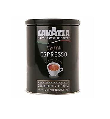 Lavazza Italian Coffee, Caffe Espresso, 100% Premium Arabica Ground Coffee, 8-Ounce Can