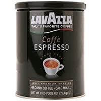 Lavazza 意大利咖啡,咖啡浓缩咖啡,100% 优质阿拉伯研磨咖啡,8 盎司罐,2 件装
