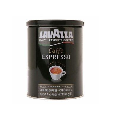 Lavazza Italian Coffee, Caffe Espresso, 100% Premium Arabica Ground Coffee, 8-Ounce Can, Pack of 2