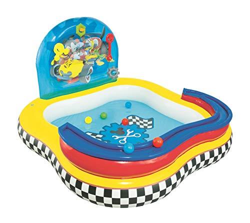 Comprar Bestway 91015 Disney - Piscina de juegos hinchable con diseño de la Casa de Mickey Mouse 157x157x91 cm - Tienda Online - Envíos Baratos o Gratis
