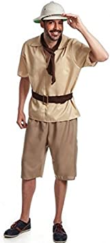 El Rey del Carnaval Disfraz de Explorador - Hombre, L: Amazon.es ...
