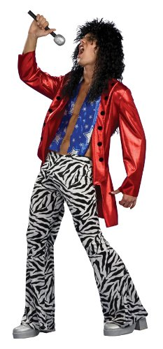 80s Fancy Dress Mens Costumes (Rubie's Costume Heavy Metal Hero, Multicolored, One Size Costume)