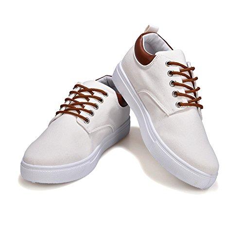 Lona Zapatos los de Amantes 2018 Zapatos Planos Cordones de de Hombres Estilo Lona Blanco Ocasionales Otoño Deportivos Verano Unisex YvT0qwqE