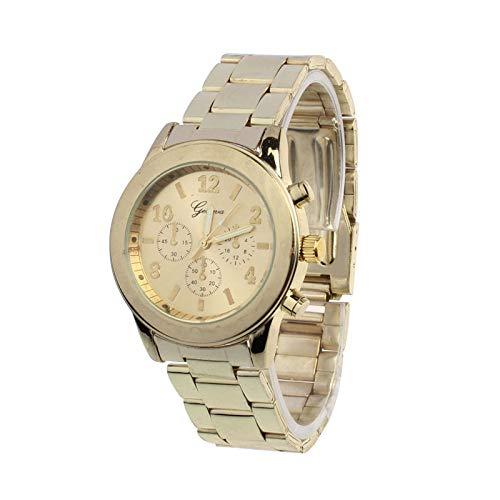 Bestow Geneva Ladies Women Girl Reloj de Pulsera de Cuarzo de Acero Inoxidable Unisex para Mujer