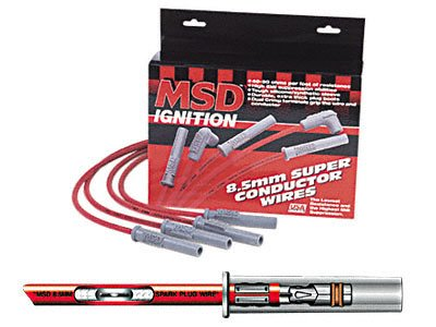 MSD 31223 Black 8.5mm Super Conductor Spark Plug Wire Set by MSD