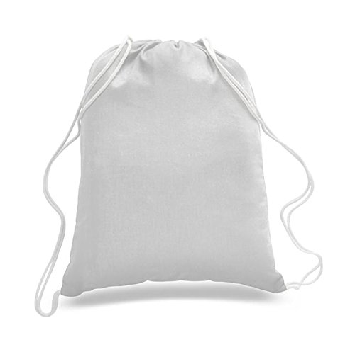 Georgiabags Great Deal! (3 Pack only for $ 9.9) Budget Friendly Sport Drawstring Backpack%100 Cotton Bags, (White) ()