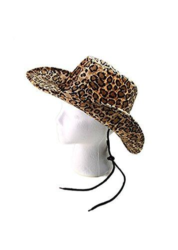 CAPTAIN FLOATY Captain Women Cowboy Hat Cowgirl & Horse Riding Hats Felt Summer Drifter Leopard Print One Size (Urban Cowboy Hats)