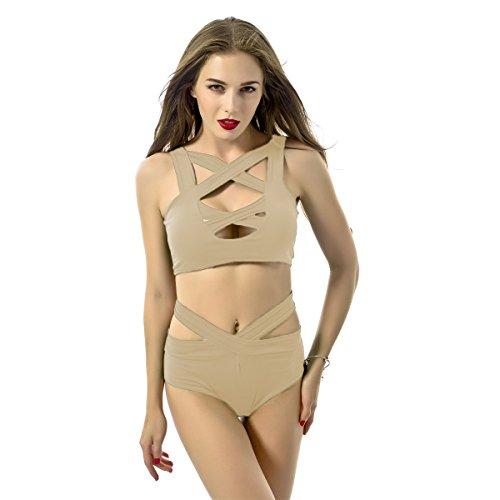 IHRKleid® Badeanzüge - Traje de una pieza - para mujer Beige