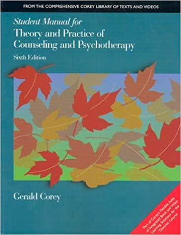Student Manual For Theory And Practice Of Counseling And