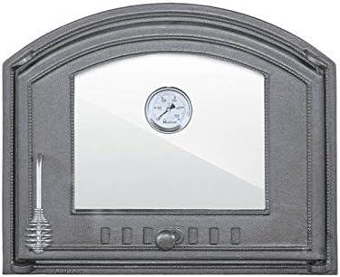 Puerta de horno de hierro fundido de sellon24, puerta de horno, puerta de pizza, jardín, barbacoa, horno de pan, H1208