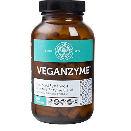 Digestion Immune System - Global Healing Center Veganzyme Advanced Natural Vegan Digestive & Systemic Enzyme for Healthy Digestion, Immune System, and Functional Balance (120 Capsules)