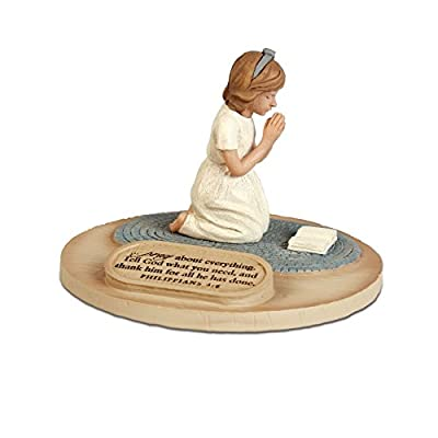 Lighthouse Christian Products Devoted Praying Boy Sculpture