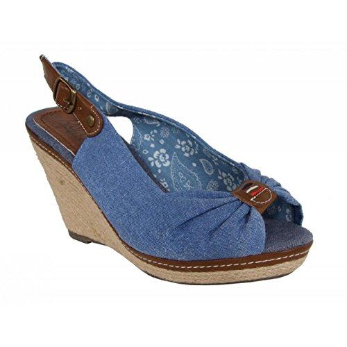 Chaussures compensées pour Femme REFRESH 62041 JEANS AZUL
