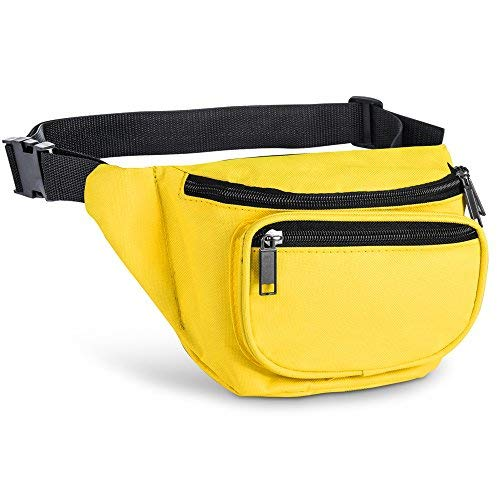 Fanny Pack, AirBuyW 3 Zippered Compartments Adjustable Waist Sport Fanny Pack -