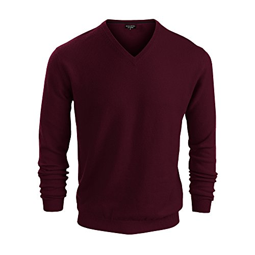 Republic Sweater Men Banana (Banana Republic Mens Cashmere V Neck Sweaters (Burgundy, Small))