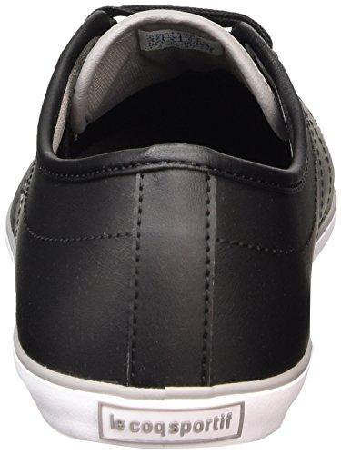 Le Coq Sportif Slimset S Lea, Men's Low-Top Sneakers Black (Black)