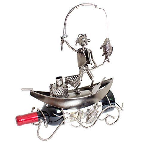 Boat Metal Sculpture (BRUBAKER Wine Bottle Holder