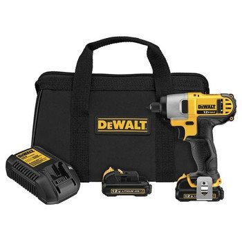Dewalt DCF815S2R 12V MAX Cordless Lithium-Ion 1/4 in. Impact Driver Kit (Certified Refurbished) by DEWALT
