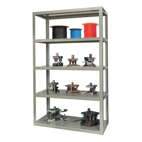 Steel Reinforced Shelving Unit - Hallowell Steel Shelving with Heavy-Duty Reinforced Shelves (3' W x 1' 6