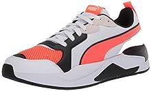 PUMA X-Ray Sneaker, White-Lava Blast Black, 11 M US