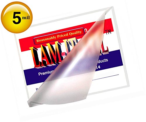 Hot Legal Laminating Pouches 5 Mil 9 X 14-1/2 [Pack of 100] Clear by LAM-IT-ALL by LAM-IT-ALL