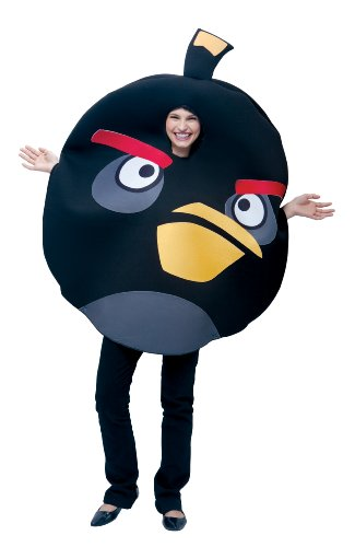 Paper Magic Unisex - Adult Angry Birds Costume, Black, One Size -