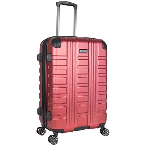Kenneth Cole Reaction Scott's Corner 24' Hardside Expandable Spinner 8-Wheel Luggage with TSA Locks, Red