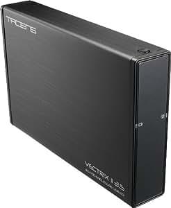 """Tacens Vectrix Ii  - Caja Externa Hd Sata 3.5"""" Usb 3.0 Esata Aluminio Negro Con Obertura Rapida De Disco"""