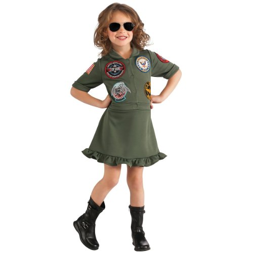 Costumes For People With Glasses (Top Gun, US Navy Flight Dress Costume, Small)