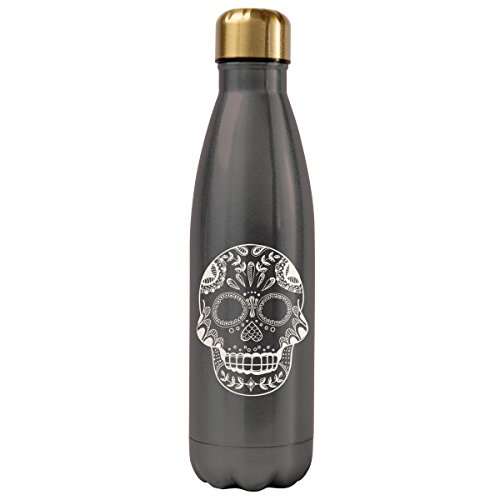Karma Gifts Sugar Skull Stainless Steel Water Bottle