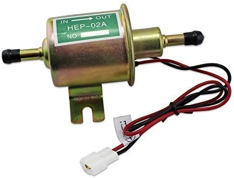 Universal 3-6psi Low Pressure Electric Fuel Pump Gas Diesel Inline 12V HEP-02A
