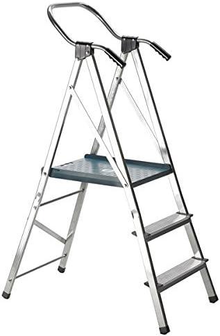Escalera Escalera Svelt Quick de aluminio doble a peldaños a un tronco de subida retráctil de plataforma aumentada, barandilla maggiorato y asas ergonómicas: Amazon.es: Oficina y papelería