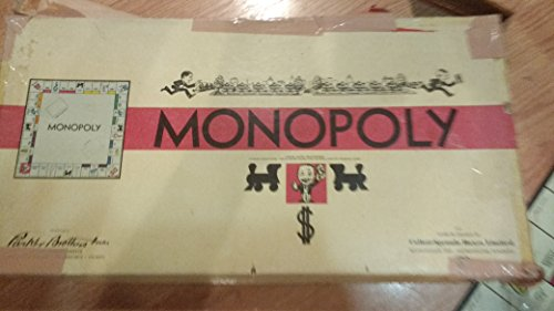 Vintage 70-Year Old Monopoly Game! -- Pre-World War II -- This is the FAMOUS White Box Deluxe Edition Issued Between 1939-1941 -- Complete Set!! -- All 10 Tokens, Including the RARE Fighter Plane!! -- All-Original Money, Instructions, Dice, Houses, Hotels!!! RARE BOARD GAME !! From Nebraska Estate Auction!!