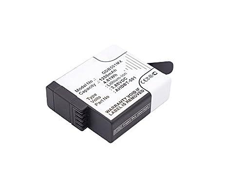 Cellonic 2X Batteria Compatibile con GoPro Hero 5 Black Hero 6 Black (AABAT-001 AABAT-001-AS ASST1 CHDHX-501) GoPro Hero 7 Black 7 White Silver 1250mAh AHDBT-501 accu Ricambio Sostituzione