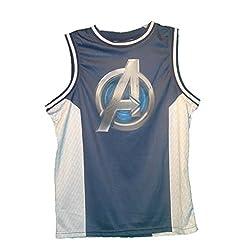 Marvel Avengers Logo Tanktop T-shirt Mens Blue Small
